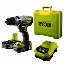 Ryobi R18DDBL-220S 18 V szénkefe nélküli fúrócsavarozó, 2 x 2,0 Ah, töltő, táska