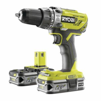 Ryobi R18PD3-225S 18 V-os akkumulátoros vezeték nélküli ütvefúró (2x2,5Ah)